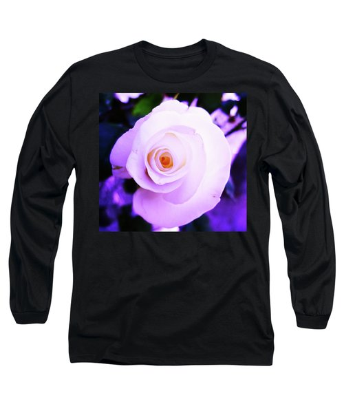 White Rose Long Sleeve T-Shirt by Mary Ellen Frazee
