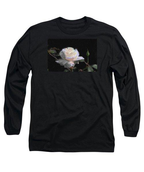 White Rose Painting Long Sleeve T-Shirt