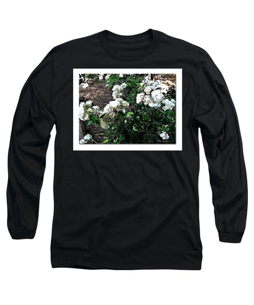 Long Sleeve T-Shirt featuring the photograph White Roses by Joan  Minchak