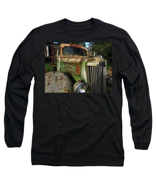 White Super Power Truck Long Sleeve T-Shirt