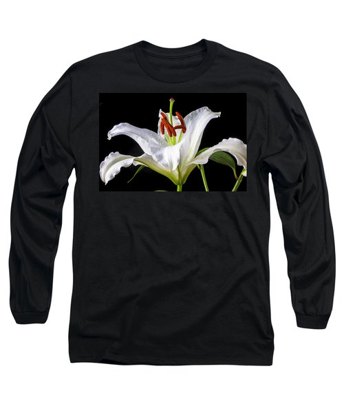 White Tiger Lily Still Life Long Sleeve T-Shirt