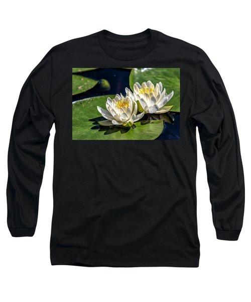 White Water Lilies Long Sleeve T-Shirt