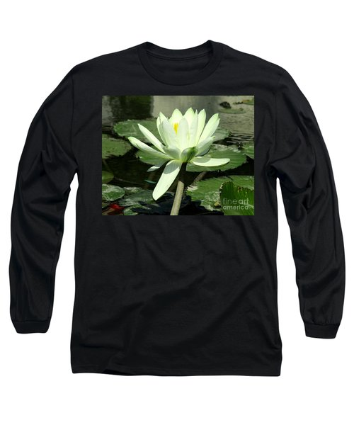 Long Sleeve T-Shirt featuring the photograph White Water Lily 1 by Randall Weidner