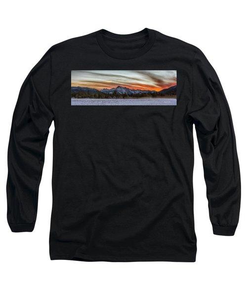 Whitehorse Sunset Panorama Long Sleeve T-Shirt