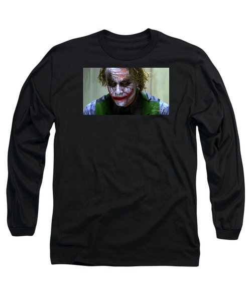 Why So Serious Long Sleeve T-Shirt by Paul Tagliamonte