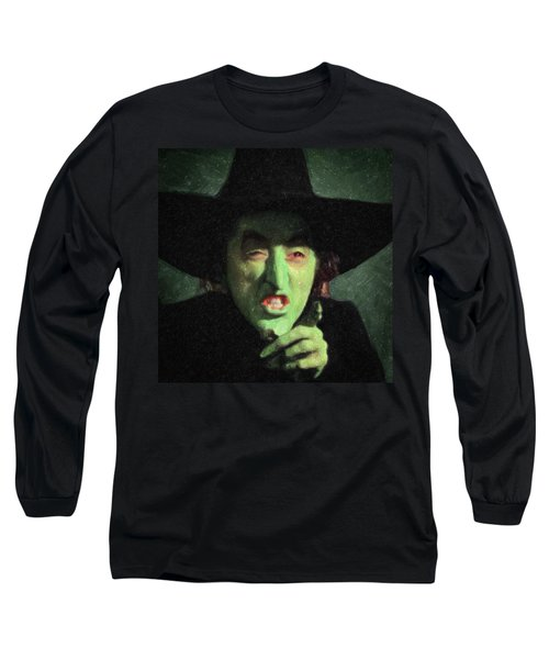 Wicked Witch Of The East Long Sleeve T-Shirt by Taylan Apukovska