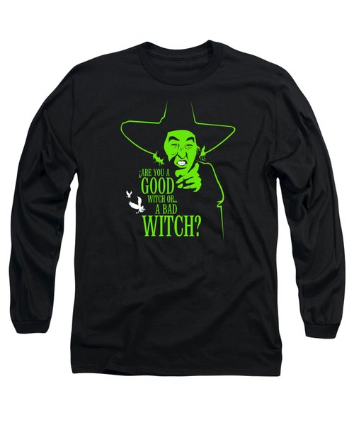 Wicked Witch Of West Long Sleeve T-Shirt by Mos Graphix