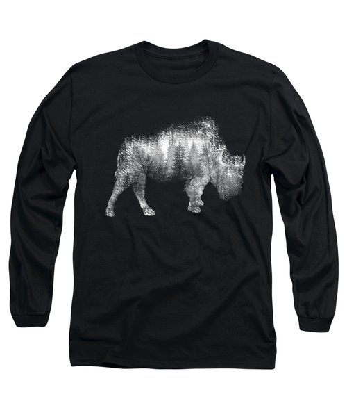 Wild Bison Long Sleeve T-Shirt by Diana Van