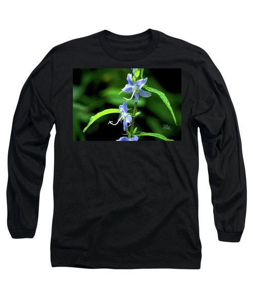 Wild Blue Flowers Long Sleeve T-Shirt