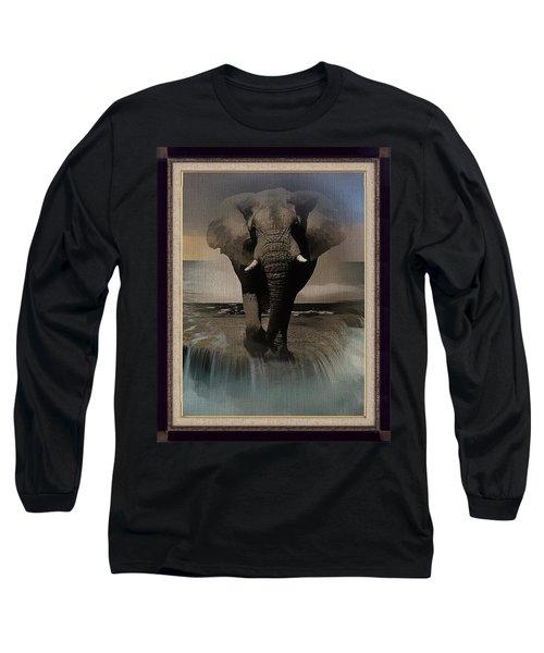 Wild Elephant Montage Long Sleeve T-Shirt