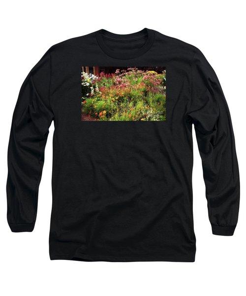 Wild Flowers Long Sleeve T-Shirt by Ted Pollard