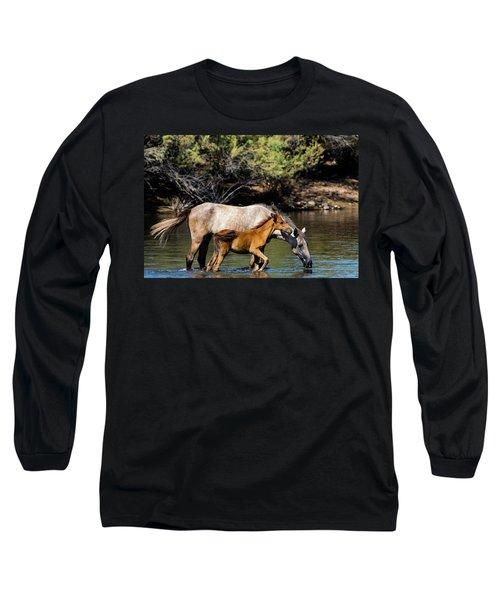 Wild Horses On The Salt River Long Sleeve T-Shirt
