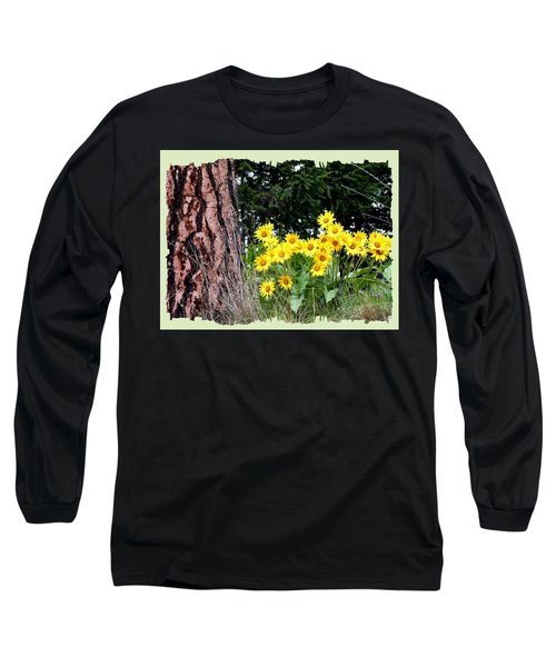 Wild Oyama Sunflowers Long Sleeve T-Shirt