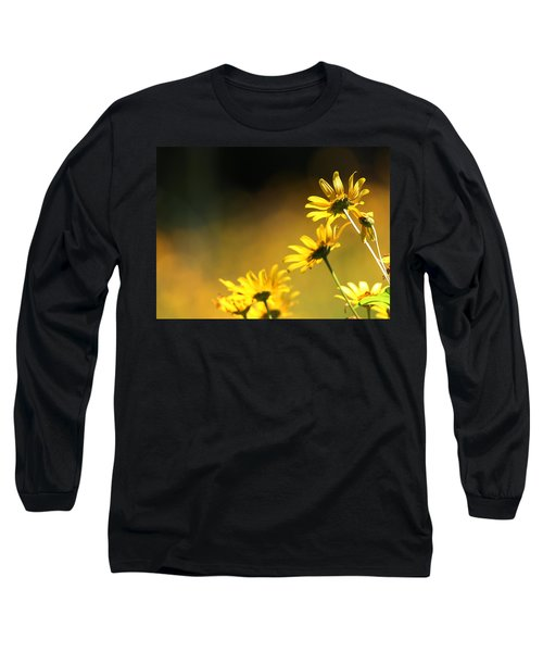 Wild Sunflowers Stony Brook New York Long Sleeve T-Shirt