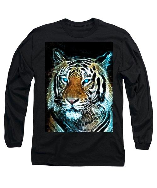 Long Sleeve T-Shirt featuring the digital art Wild Thang by Karen Showell