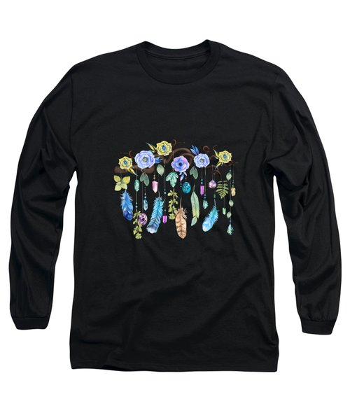 Wild Wood Roses And Twisted Branches Spirit Gazer Long Sleeve T-Shirt