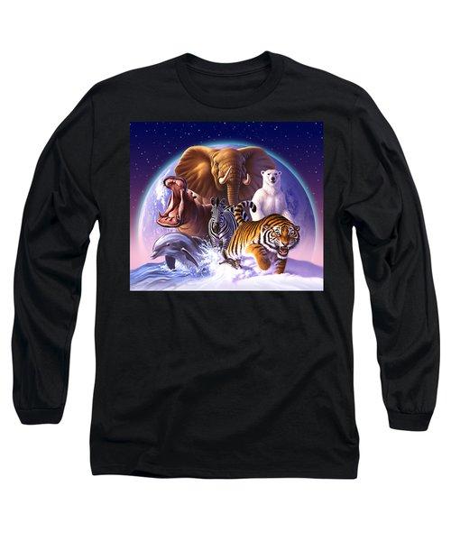 Wild World Long Sleeve T-Shirt by Jerry LoFaro
