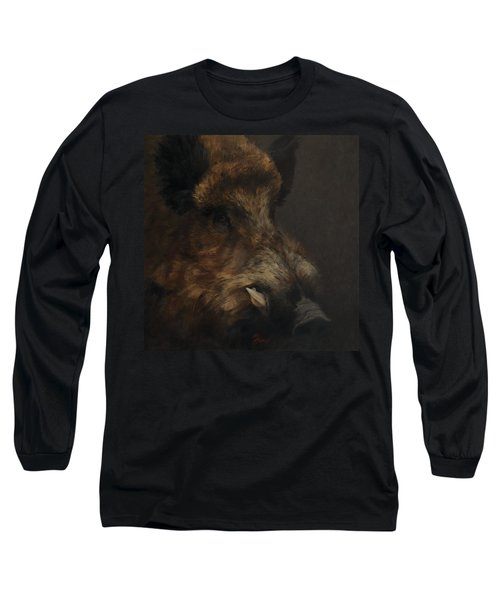 Wildboar Portrait Long Sleeve T-Shirt