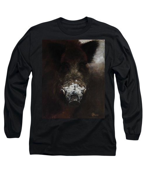 Wildboar With Snowy Snout Long Sleeve T-Shirt