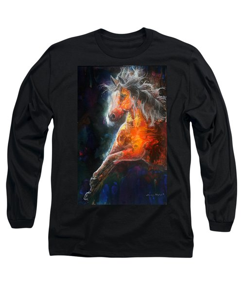 Wildfire Fire Horse Long Sleeve T-Shirt
