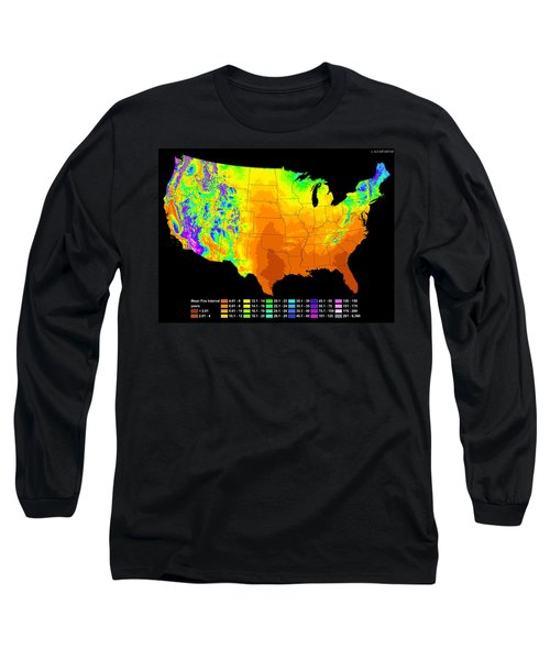 Long Sleeve T-Shirt featuring the photograph Wildfire Frequency by Bill Gabbert