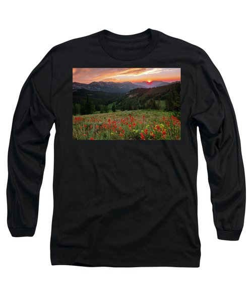 Wildflowers At Gaurdsmans Pass Long Sleeve T-Shirt