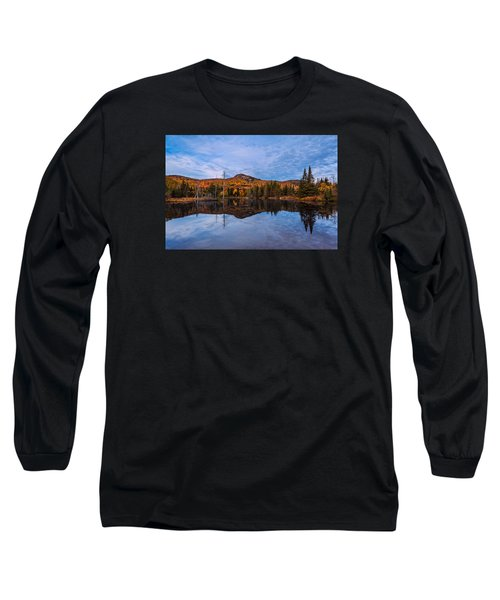 Wildlife Pond Autumn Reflection Long Sleeve T-Shirt