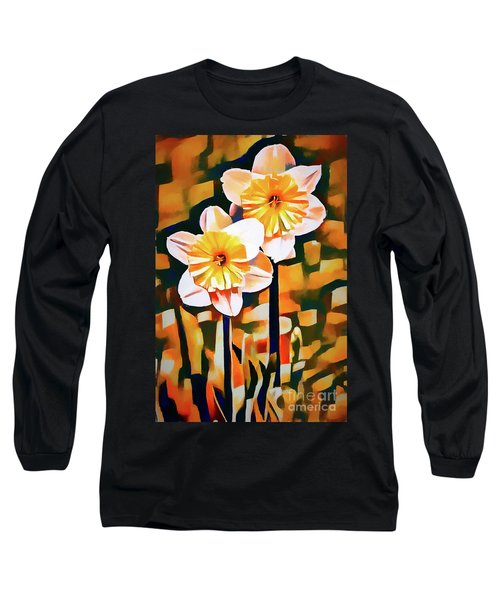 Wildly Abstract Daffodil Pair Long Sleeve T-Shirt