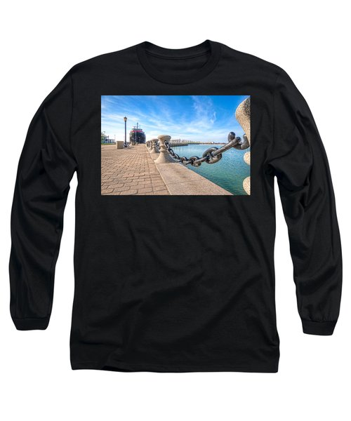 Long Sleeve T-Shirt featuring the photograph William G. Mather At Harbor by Brent Durken