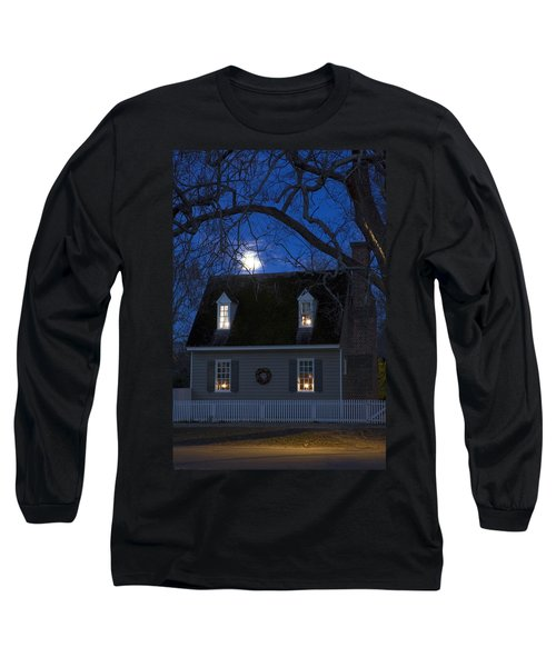 Williamsburg House In Moonlight Long Sleeve T-Shirt