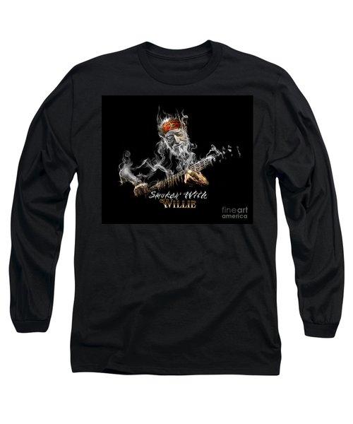 Willie Smoken' Long Sleeve T-Shirt