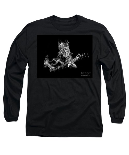 Willie - Up In Smoke Long Sleeve T-Shirt