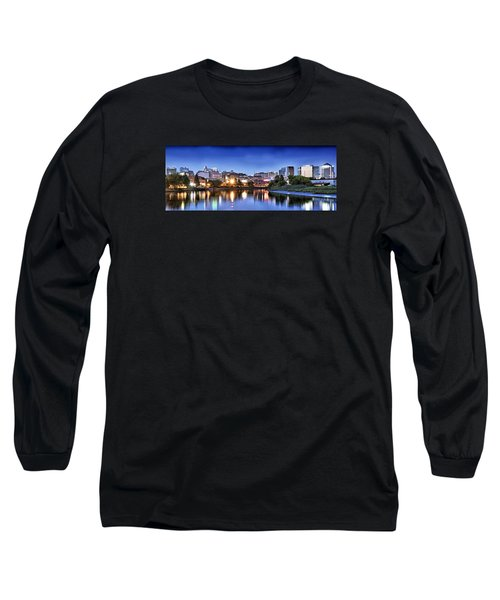 Wilmington Delaware - Skyline At Dusk Long Sleeve T-Shirt