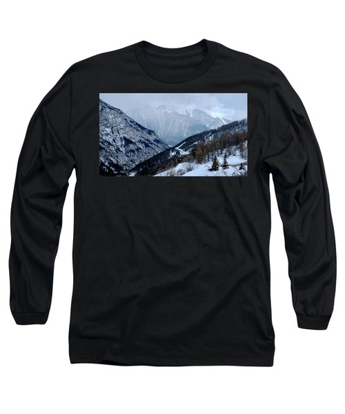 Long Sleeve T-Shirt featuring the photograph Winding Road In The Alps by August Timmermans
