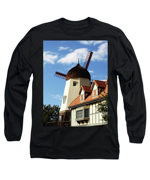 Windmill At Solvang, California Long Sleeve T-Shirt