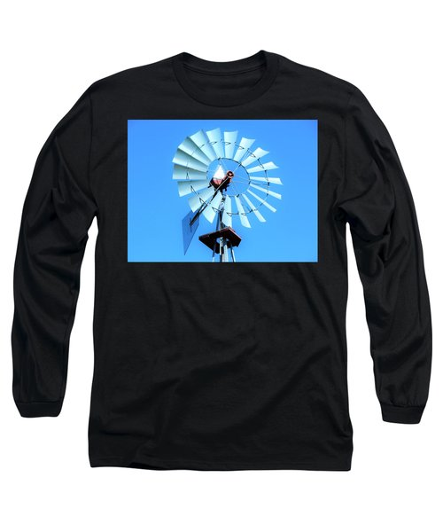 Long Sleeve T-Shirt featuring the photograph Windmill - Bright Sunny Day by Ray Shrewsberry