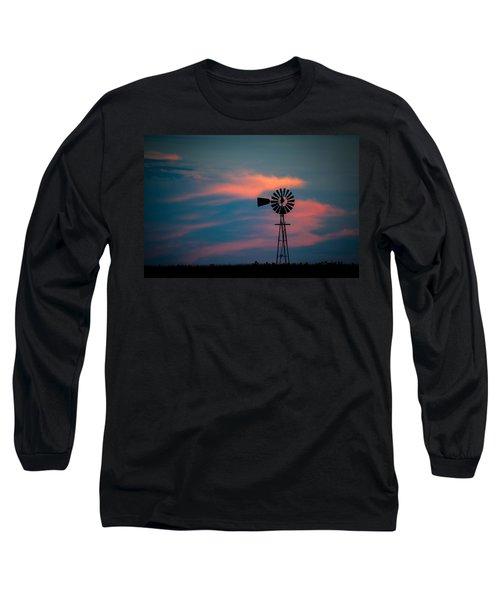 Windmill Sunset Long Sleeve T-Shirt