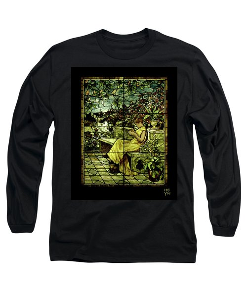 Window - Lady In Garden Long Sleeve T-Shirt