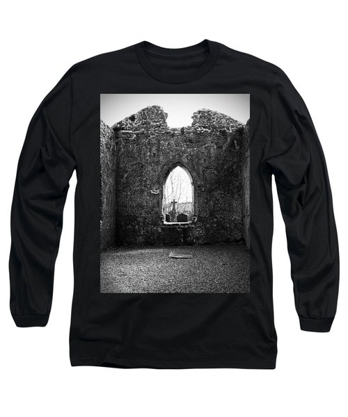 Window At Fuerty Church Roscommon Ireland Long Sleeve T-Shirt