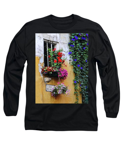 Window Garden In Arles France Long Sleeve T-Shirt