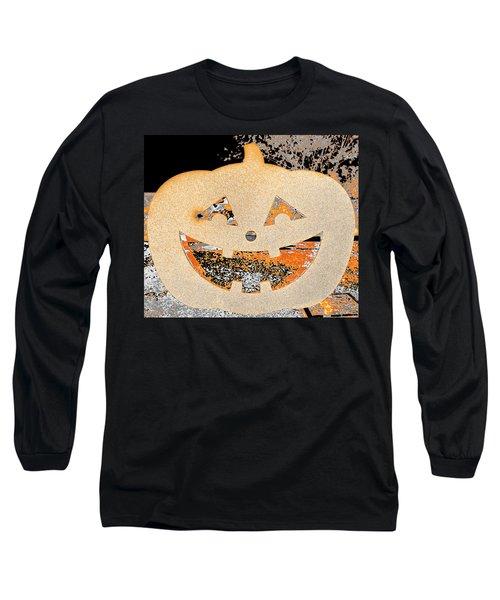 Window Pumpkin #3 Long Sleeve T-Shirt