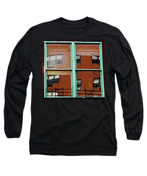 Windows In The Heights Long Sleeve T-Shirt by Sarah Loft