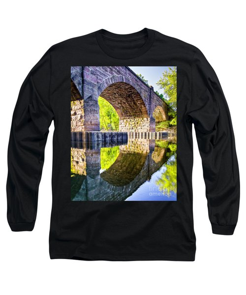 Long Sleeve T-Shirt featuring the photograph Windsor Rail Bridge by Tom Cameron