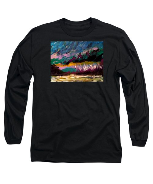 Windy Day On Gulf Islands Long Sleeve T-Shirt