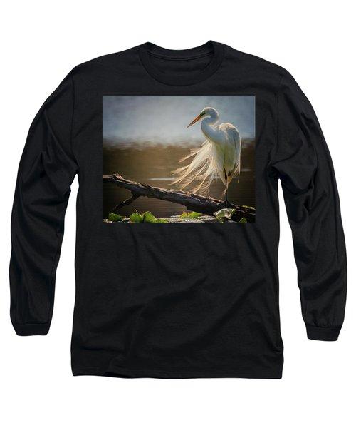 Windy Egret  Long Sleeve T-Shirt