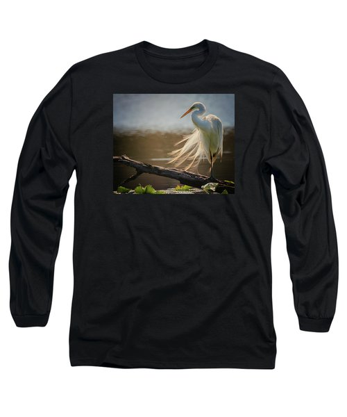 Windy Egret  Long Sleeve T-Shirt