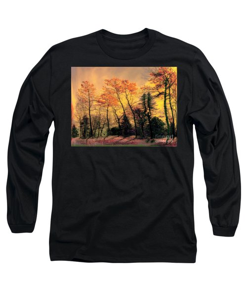 Long Sleeve T-Shirt featuring the photograph Windy  by Elfriede Fulda