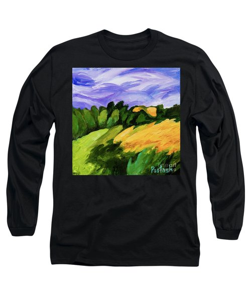 Long Sleeve T-Shirt featuring the painting Windy by Igor Postash