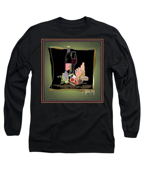 Wine And Cheese Long Sleeve T-Shirt