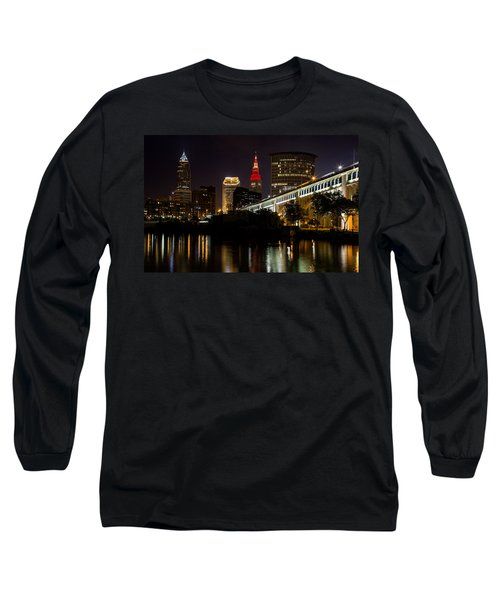 Wine And Gold In Cleveland Long Sleeve T-Shirt